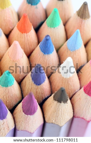 Colorful color pencils macro