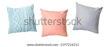 Colorful colors set isolated on white,home decor. #1197216211