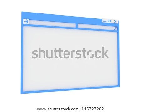 Colorful Computer Window. Isolated on White Background.