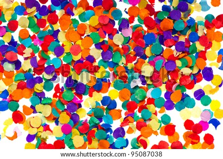 colorful confetti background. red, blue, green, yellow. carnival. birthday