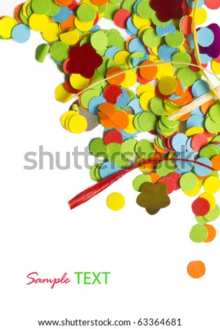 colorful confetti background with place for your text