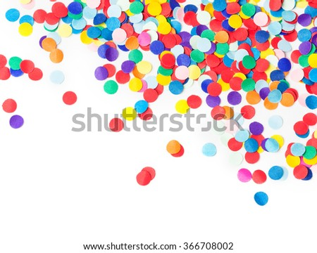 Colorful confetti, isolated on white #366708002