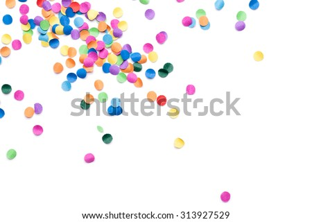 colorful confetti on white background #313927529