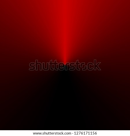 Colorful conical gradient of red color. Bright plate with a polished metal effect.