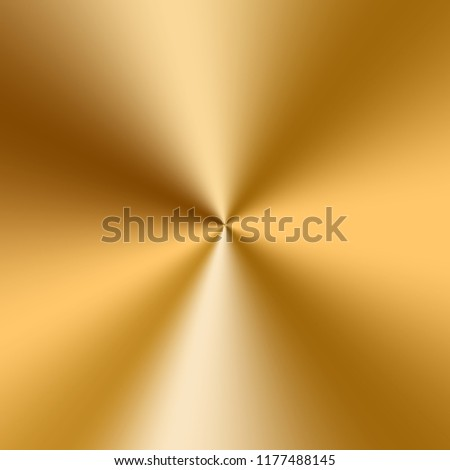 Colorful conical gradient with a gold metallic texture