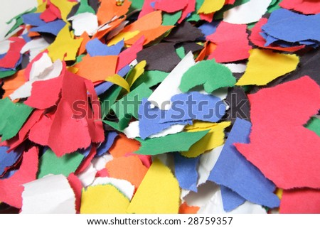 Colorful Construction Paper Background