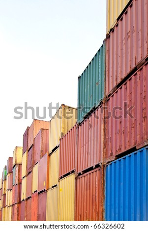 Colorful Container - stock photo