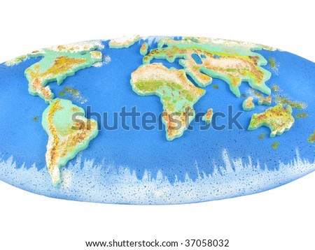 WORLD MAP CONTINENTS OCEANS