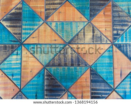Colorful continuous triangle pattern structure. Colorful continuous triangle