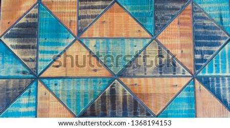 Colorful continuous triangle pattern structure. Colorful continuous triangle. closeup