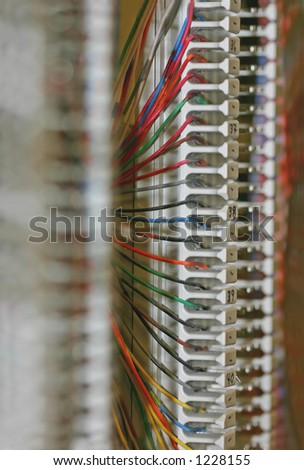 Colorful Copper Wires Are Carefully Connected On A 66