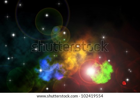 Colorful cosmos background
