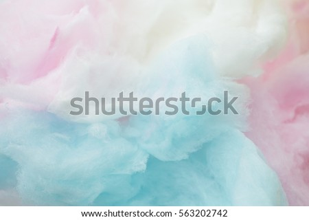 colorful cotton candy in soft...