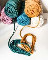 Colorful Cotton Cords Heart Shape