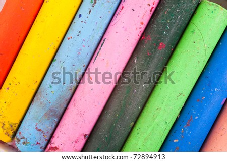 Colorful Crayon for background