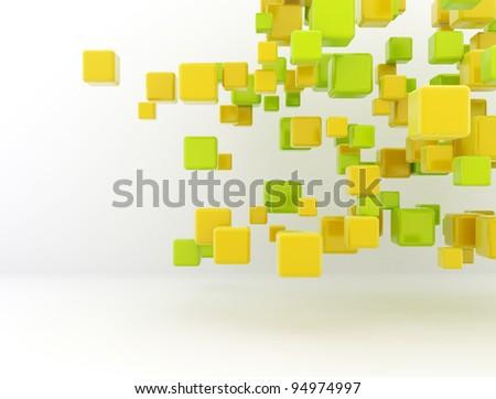 colorful 3d cubes background.