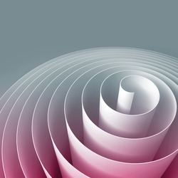 Colorful 3d spiral, abstract digital illustration, background pattern