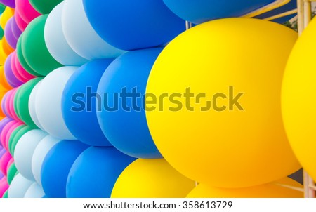 Free photos Pattern of colorful decorative balloons wall background ...