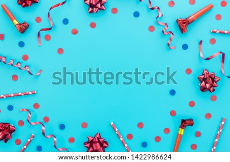 Colorful decorative birthday elements for a party #1422986624