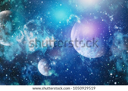 Colorful deep space. Universe concept background.Planet - Elements of this Image Furnished by NASA