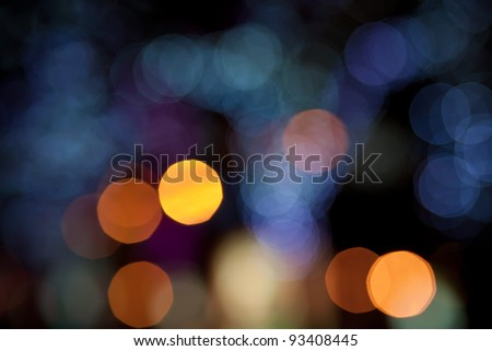 Colorful Defocused Christmas Lights for a Background