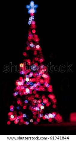 Colorful Defocused Christmas Tree Lights