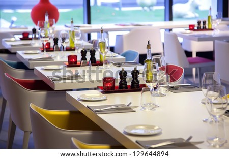 Colorful Details In Restaurant Interior
