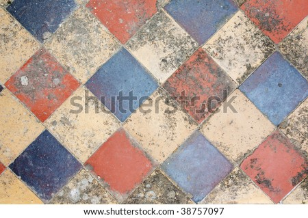 Colorful diagonal tiling, ideal as background