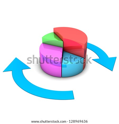 Colorful diagram with blue arrows. White background.