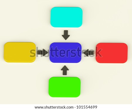 Colorful Diagram With Four Arrows Shows Process Or Illustration