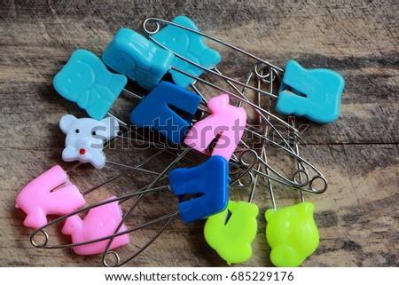 colorful diaper pin #685229176