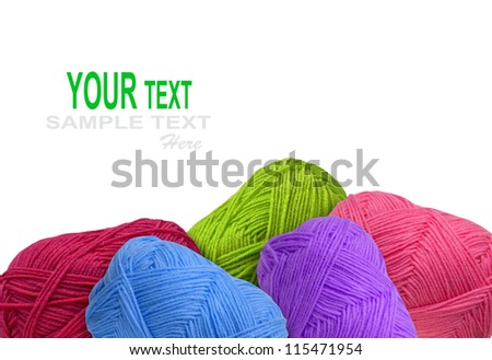 colorful different thread balls