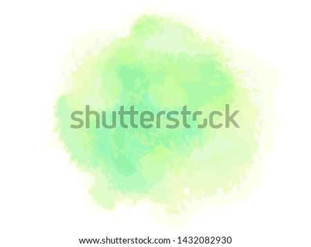 Colorful digital spot on isolated white background. Colored abstract sample. Hand drawn watercolour splotch. Paint and ink smudges