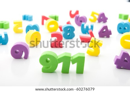 colorful digits