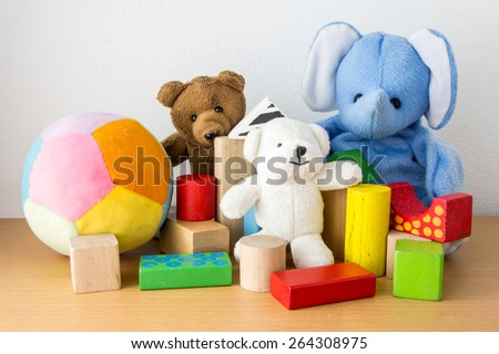 Colorful Doll and Toys Collection