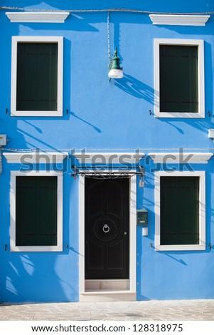 Colorful doors of Burano island