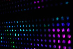 colorful dot background and bokeh