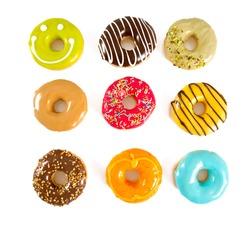 colorful doughnuts