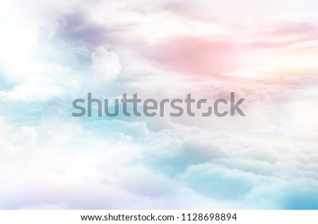 colorful dreamy sky clouds background heaven sky magical sky