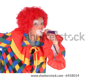 stock-photo-colorful-dressed-female-holiday-clown-blowing-toy-horn-blower-happy-joyful-expression-on-face-6458014.jpg