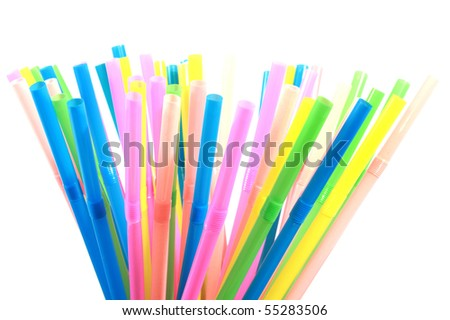 Colorful drinking straws #55283506