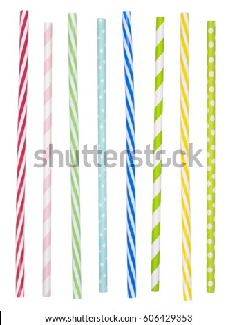 Colorful drinking straws isolated on white background Stock photo ©