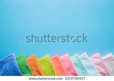 colorful  dry microfiber cloths ...