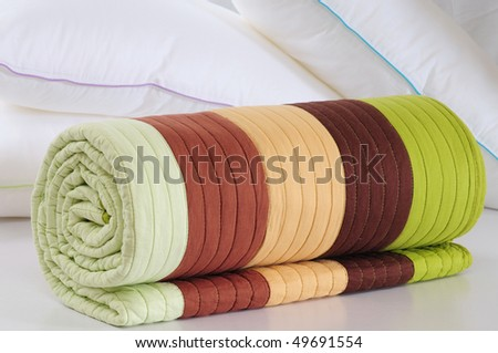 Colorful duvet.