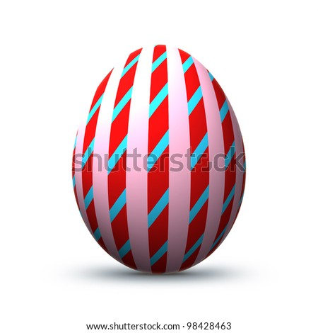 Colorful easter egg isolated before white background