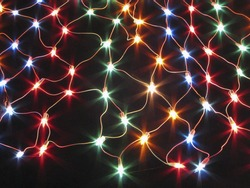 Colorful electric light net