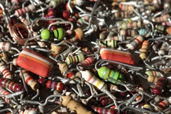 colorful electronic components resistors Ohm