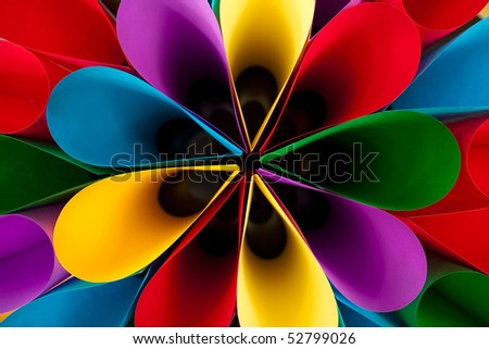 Colorful Elliptical Flower Shaped Abstract