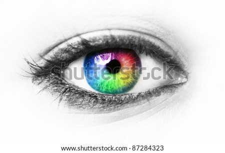 Colorful eye - stock photo