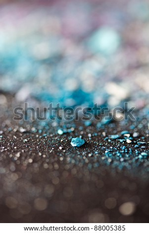 colorful eyeshadow powder with shallow dof